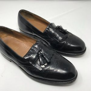 Johnston & Murphy Black Optiflex  Loafers Shoes